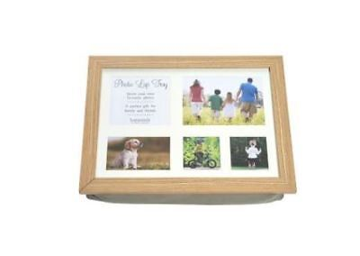 Personalise own photo LAP TRAY with photographs / images (Wooden Cushion Custom)