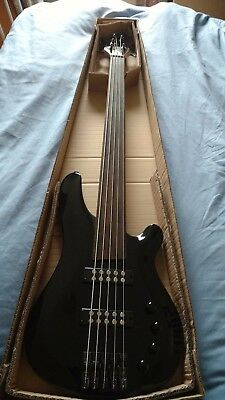 NEW Fretless 5 String  Electrc Bass Guitar Long Scale Length 864mm active pickup