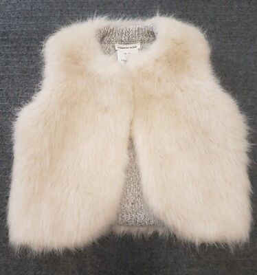 Gorgeous 12-18 month baby girl reversible Country Road vest. Faux fur, grey wool