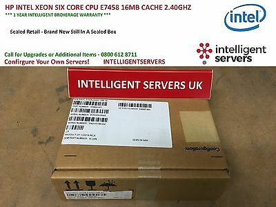 Hp Intel Xeon Six Core Cpu E7458 16Mb Cache 2.40Ghz - 530604-001