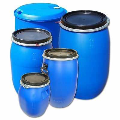 Plastic Tight-Head or Open top kegs, 120 L and 220 L drums, water containers