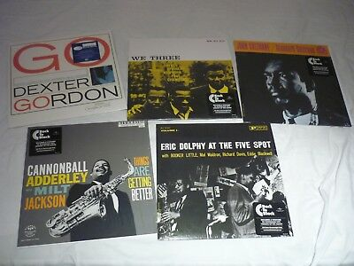 JAZZ LP'S COLTRANE, DOLPHY, GORDON, ADDERLEY, (BLUENOTE/RIVERSIDE) - near mint!