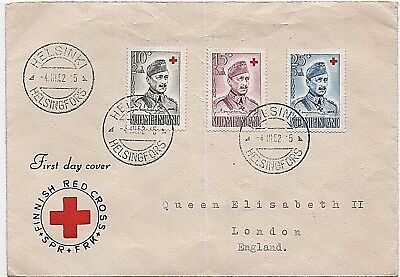 Finland Stamps - 1952 'Red Cross Fund' First Day Cover