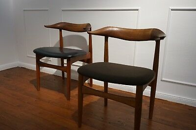 2x Knud Faerch Cowhorn Chair Denmark Stuhl scandinavien interior design 60s 70s
