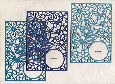 x6 Flower Collage Card Topper Die Cuts ~ Shades of Blue ~ Cardmaking