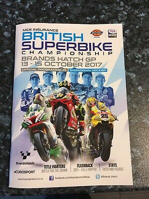 MCE British Superbike Programme Showdown Decider