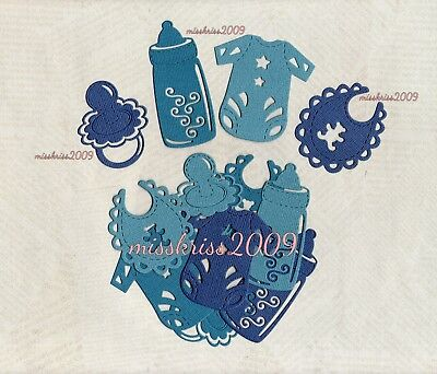 x12 Mixed Baby Die Cuts ~ Shades of Blue ~ Scrapbooking/Cardmaking
