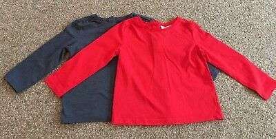 2 NEXT Baby Girls Long Sleeve Soft Winter Tops - 9-12 mths Very Good condition!