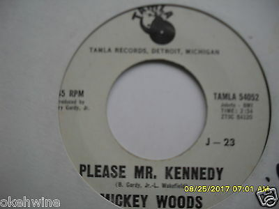 Northern Rare Motown Demo Mickey Woods Please Mr Kennedy/they Call Me Cupid