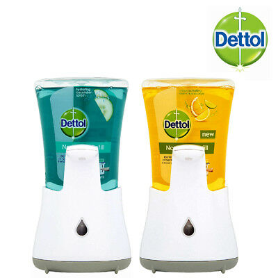 Dettol No Touch Antibacterial Hand Wash System 250ml Scents Cucumber Or Citrus