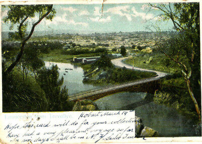 1920s postcard Launceston from Trevallyn TASMANIA Australia