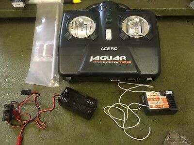 Thunder Tiger Ace RC Jaguar 2 Remote Control  and receiver