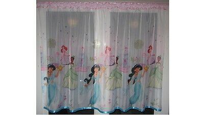 Luxury Disney Princess Lace Net Voile Curtain with Pelmet