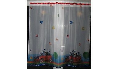 Luxury Disney Mickey Mouse Lace Net Voile Curtain with Slot Top Fit & Ribbons