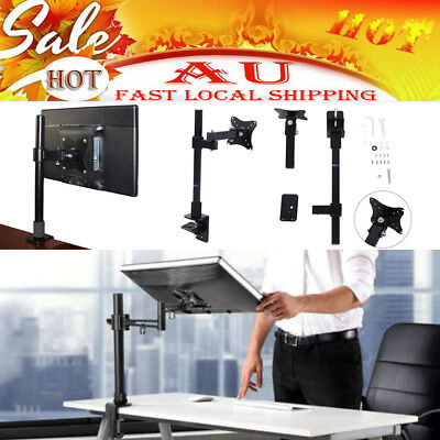 Single HD LCD Desk Mount Monitor Arm Stand Display Bracket Holder LCD Screen TV