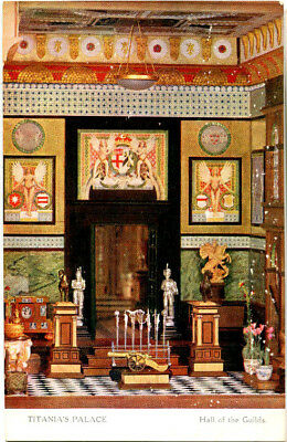 1920s postcard Hall of the Guild's Titania's Palace (Dolls House now in Denmark)