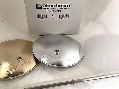 Elinchrom Deflector Set Of 3 Light Deflectors In Silver,gold And Opal