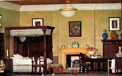 1920s postcard Oberon's Dressing Room Titania's Palace (Dolls House in Denmark)