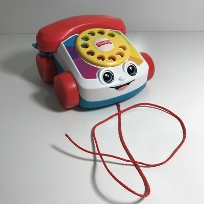 Fisher Price Chatter Box Telephone Phone Toddler Pull Toy - Like New - Mattel