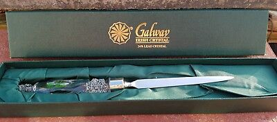 Galway Irish Crystal Letter Opener In Box