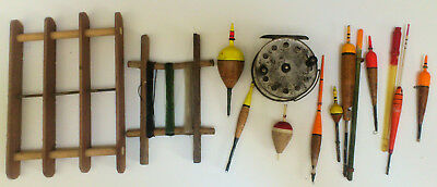 Vintage fishing tackle - centre pin, hand lines, floats, etc.