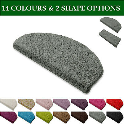 Shaggy Stair Treads Mats Set 15 Staircase Step Cover Floor Mat Long Thick Pile