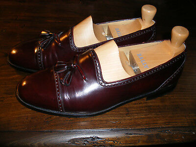 Vinatge Mens Mezlan Brogue slip on Shoes Oxblood UK9 Custom Grade A1! Condition