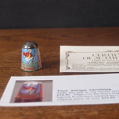 Thimble James Swann Silver & Enamel 'Force' Advertising - Collectors Guild