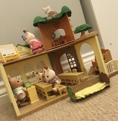 Sylvanian Families Tree House School, Figures and Seaside Birthday Party.