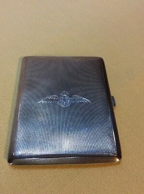 RAF CIGARETTE CASE  STERLING SILVER 1939 122g