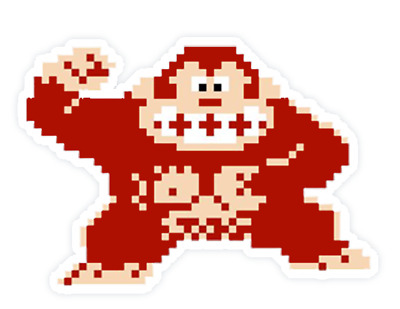 Donkey Kong Vinyl Stickers / Decals Super Mario Brothers Nintendo Switch SNES