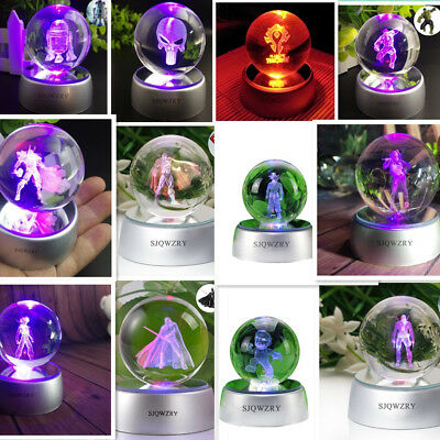 Seven Colorful Crystal Ball Light  Night Light  Desk Lamp  Creative Gift toy