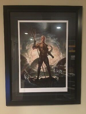 Aquaman Premium Art Print By Sideshow Collectibles - Framed - #37/200