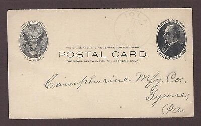 mjstampshobby 1908 US Post Card Vintage Used (Lot4891)