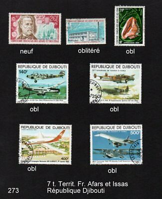 Djibouti - 7 timbres divers