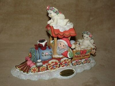 """SWEET Dreamsicles """"All Aboard"""" Holiday Express Train by Kristin Clay Art 1998"""