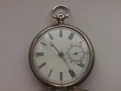 Antique watch English fusee full hunter watch. London silver case 1861