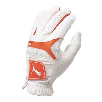 New Puma Mens Sports Performance Golf Glove - White/Orange