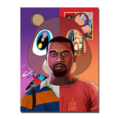 Kanye West Hithot Music Poster Picture Silk Print Wall Art 13x18 24x32 inch