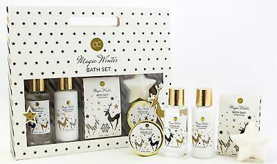 MAGIC WINTER Geschenkset in Papiertasche - Duschgel Body Lotion Seife Badesalz C