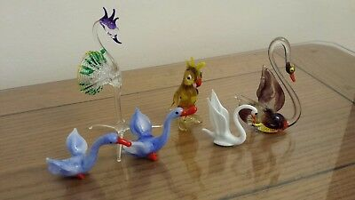 Mixed lot Coloured Glass Miniatures