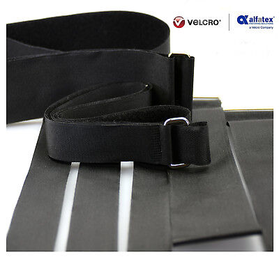 Alfatex® by Velcro® Brand Heavy Duty Metal Buckle Adjustable Velcro Strap