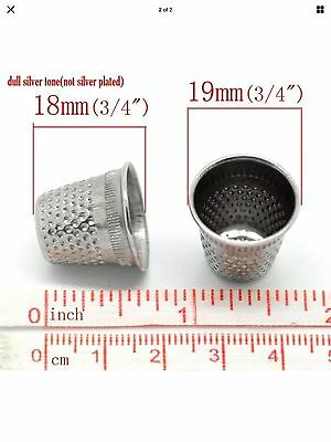 Sewing Thimble Dressmakers Tailors Silver Tone Metal