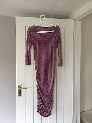 Isabella Oliver Dress Pink Grey Stripes Size 2