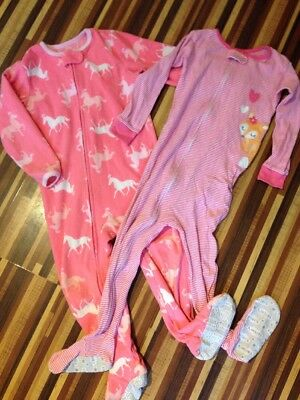 Cute Girls Todder Sleepsuit 2x Age 2-3 Years CARTERS 3T All In One Horses Fox