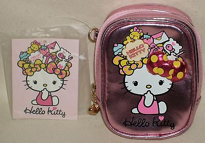 "Hello Kitty Mori Girl Ribbon Pink Mini Pouch Bag 4.5"" 11.5cm Sanrio 2010 NWT"