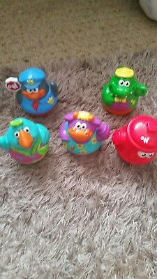 set of five animal  weebles wobbles. excellent condition .playschool.