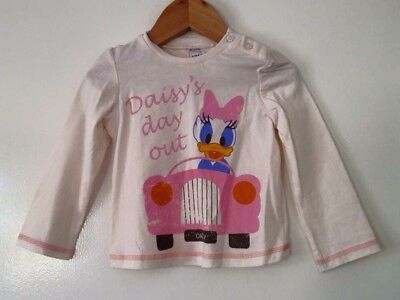 "Baby Girls Disney Daisy Duck ""Daisy's Day Out"" Top BNWOT 3 Months"