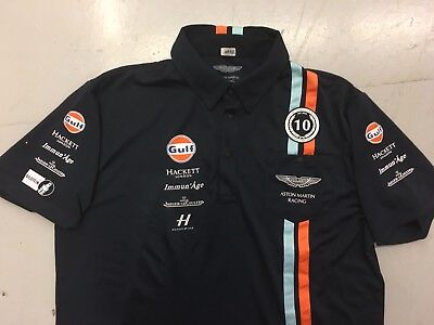 Aston Martin Racing Team Issue Only Polo Shirt By Hackett Extra Large Used