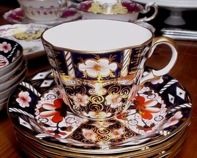 ANTIQUE Royal Crown Derby 2451 - Coffee 2.5 inch tall Cup and Saucer 1924